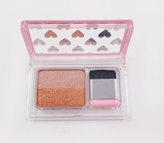 Double color wet glitter eyeshadow with brush